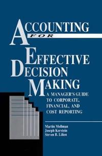 Accounting for Effective Decision Making