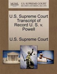 U.S. Supreme Court Transcript of Record U. S. V. Powell