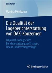 Die Qualität Der Lageberichterstattung Von Dax-konzernen