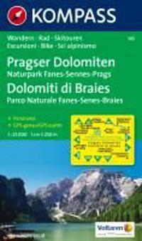 Pragser Dolomiten 1 : 25 000. Naturpark Fanes-Sennes-Prags - Dolomiti di Braies - Parco Naturale Fanes-Senes-Braies 1 : 25 000