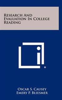 Research and Evaluation in College Reading