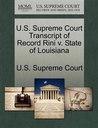 U.S. Supreme Court Transcript of Record Rini V. State of Louisiana