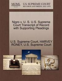 Nigro V. U. S. U.S. Supreme Court Transcript of Record with Supporting Pleadings