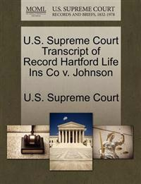 U.S. Supreme Court Transcript of Record Hartford Life Ins Co V. Johnson