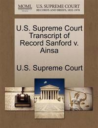 U.S. Supreme Court Transcript of Record Sanford V. Ainsa