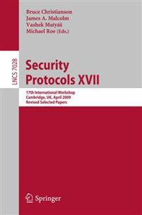 Security Protocols XVII