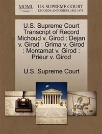 U.S. Supreme Court Transcript of Record Michoud V. Girod