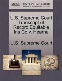 U.S. Supreme Court Transcript of Record Equitable Ins Co V. Hearne