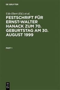 Festschrift Fur Ernst-Walter Hanack