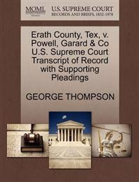 Erath County, Tex, V. Powell, Garard & Co U.S. Supreme Court Transcript of Record with Supporting Pleadings
