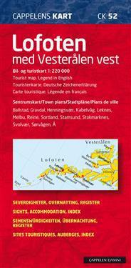 Lofoten Vesterålen Cappelen Norge CK52 karta : 1:10000-1:220000