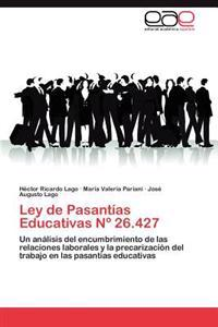 Ley de Pasantias Educativas N 26.427