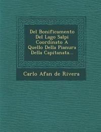 del Bonificamento del Lago Salpi Coordinato a Quello Della Pianura Della Capitanata...