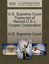U.S. Supreme Court Transcript of Record U S V. Cooper Corporation