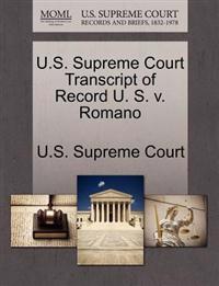 U.S. Supreme Court Transcript of Record U. S. V. Romano