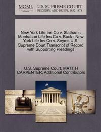 New York Life Ins Co V. Statham