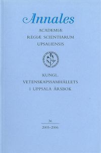 Kungl. Vetenskapssamhällets i Uppsala årsbok 36/2005-2006