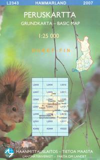 Maastokartta L2343 Hammarland peruskartta 1:25 000