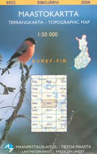 Maastokartta S522 Simojärvi 1:50 000