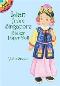 Lian from Singapore Sticker Paper Doll