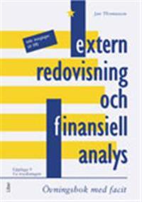 Extern redovisning och finansiell analys, Övn+facit