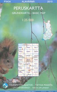 Maastokartta P3434 Alahärmä peruskartta 1:25 000