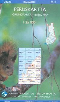 Maastokartta Q4223 Kalajoki peruskartta 1:25 000