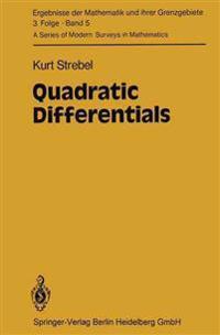 Quadratic Differentials