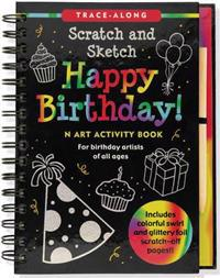 Happy Birthday! Scratch and Sketch Tracealong