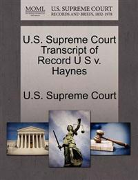 U.S. Supreme Court Transcript of Record U S V. Haynes