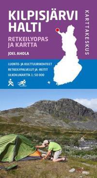 Kilpisjärvi Halti retkeilyopas ja kartta, 1:50 000