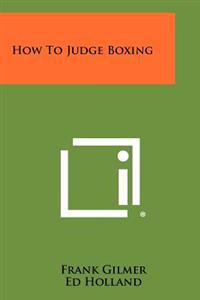 How to Judge Boxing