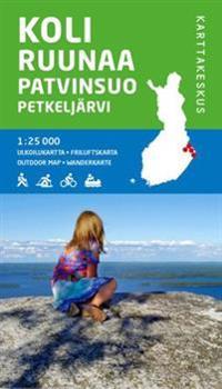 Koli-Ruunaa-Patvinsuo-Petkeljärvi ulkoilukartta, 1:25 000