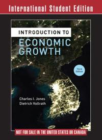 Introduction to Economic Growth 3E International Student Edition