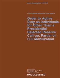 Order to Active Duty as Individuals for Other Than a Presidential Selected Reserve Call-Up, Partial or Full Mobilization