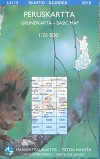 Maastokartta L4113 Siuntio-Sjundeå peruskartta 1:25 000