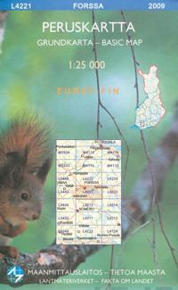 Maastokartta L4221 Forssa peruskartta 1:25 000