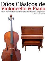 Duos Clasicos de Violoncello & Piano: Piezas Faciles de Beethoven, Mozart, Tchaikovsky y Otros Compositores