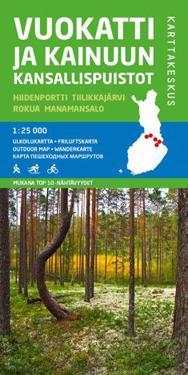 Vuokatti ja Kainuun kansallispuistot, 1:25 000