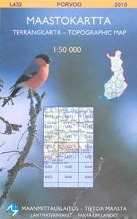 Maastokartta L432 Porvoo 1:50 000