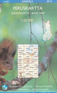 Peruskartta L4421 Kärkölä 1:25 000
