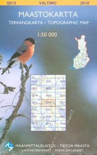 Maastokartta Q513 Valtimo 1 50 000 Kirjat Muu 9789514893933