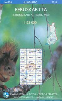 Peruskartta N4233 Jukojärvi 1:25 000