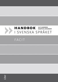 Handbok i svenska språket Facit