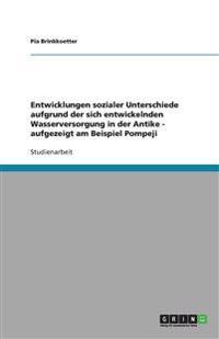 Entwicklungen Sozialer Unterschiede Aufgrund Der Sich Entwickelnden Wasserversorgung in Der Antike - Aufgezeigt Am Beispiel Pompeji