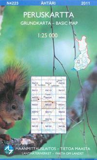 Maastokartta N4223 Ähtäri peruskartta 1:25 000