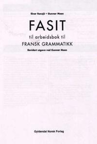 Fransk grammatikk - Einar Ronsjø, Gunnar Moen pdf epub