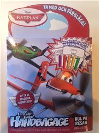 Disney målarbok med färgpennor : flygplan