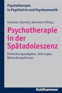 Psychotherapie in Der Spatadoleszenz: Entwicklungsaufgaben, Storungen, Behandlungsformen