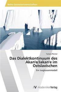 Das Dialektkontinuum Des Akan'e/Jakan'e Im Ostslavischen